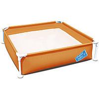 Каркасный бассейн Bestway 56217, 122 х 122 х 30.5 см Оранжевый
