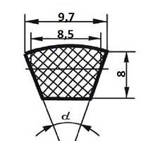 Ремень клиновой  SPZ-600