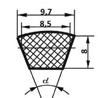 Ремень клиновой  SPZ-833