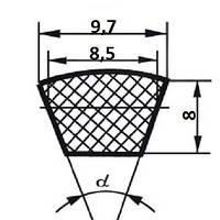 Ремень клиновой  SPZ-875