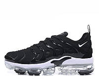 "Мужские кроссовки реплика Nike Air Vapormax Plus ""Black/White"" , фото 1"