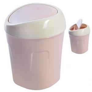 Ведро для мусора настольное, Bucket розовое 12*17см