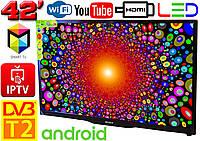 "Телевизор SmartTV SONY 42"" 4K 3840x2160,LED, IPTV, Android 9, T2, WIFI, USB, HDMI BluetoothКОРЕЯ!"