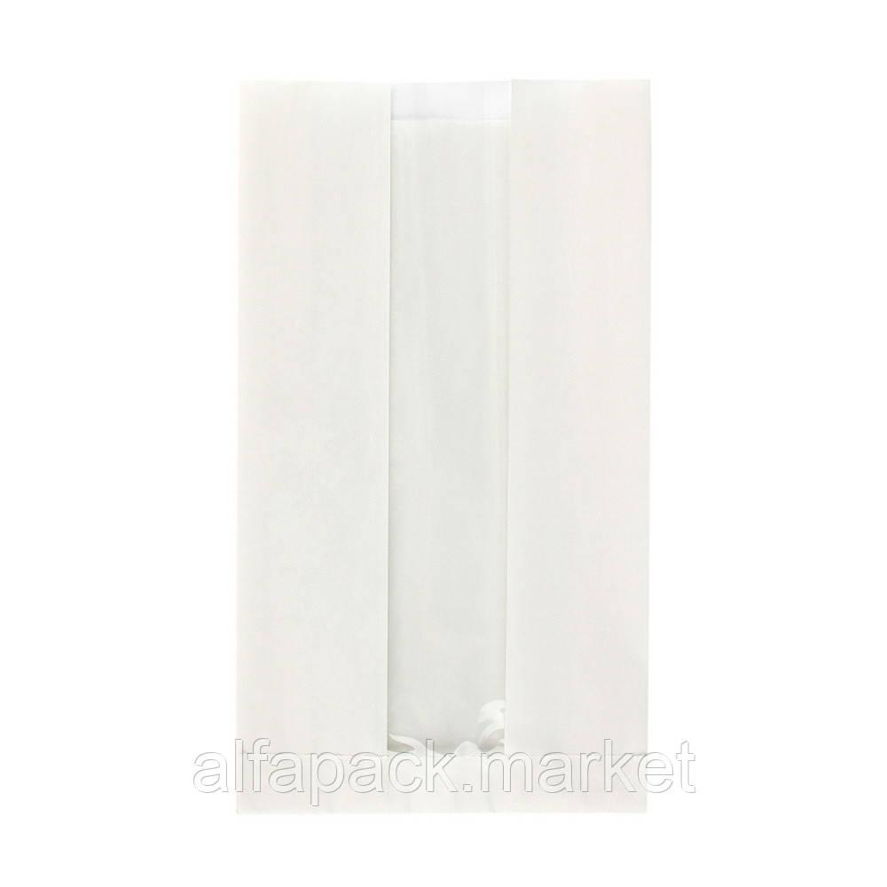 Пакет 250*140*50 з вікном білий (1000 шт в упаковці) 030002029