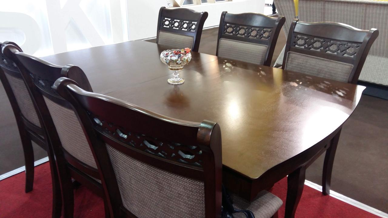 Стол обеденный  деревянный Женева Sof, цвет орех
