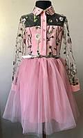 Нарядное платье для девочки с фатином 7-12 лет, фото 1