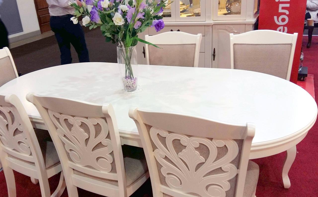 Стол обеденный Братислава Sof, цвет белый