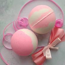 Кулька для ванни бомбочка ручної роботи Суниця