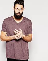 Бордовая футболка Asos