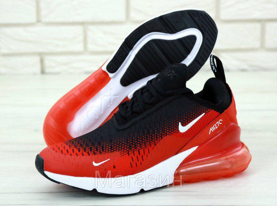 e8978a4d8 Мужские спортивные кроссовки Nike Air Max 270 Black / Red (в стиле Найк Аир  Макс