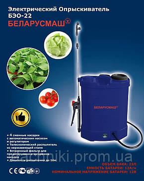 Аккумуляторный садовый опрыскиватель Беларусмаш БЭО-22 Л, 12 Aч, фото 2