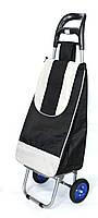 Хозяйственная сумка тележка Xiamen с колесами на подшипниках Black with gray (0089)