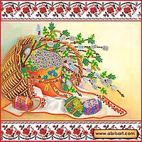 """Схема для вышивки бисером на натуральном холсте """"Светлое Христово Воскресение""""  AC-057"""
