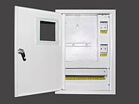 Накладной металлический шкаф для 1фазного счетчика+16 автоматов