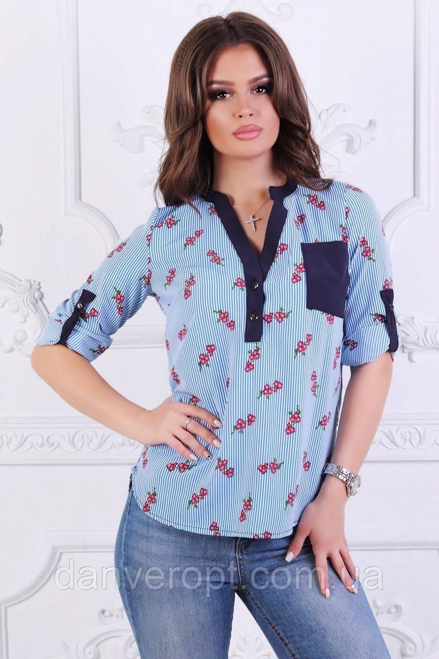 d6263303f785c Блузка женская стильная модная размер 42-48, купить оптом со склада 7км  Одесса -