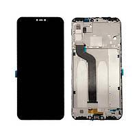 Дисплей для Xiaomi Redmi 6/Redmi 6A с тачскрином и рамкой черный Оригинал