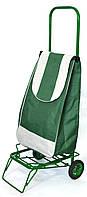Усиленная хозяйственная сумка тележка на колесах с подшипниками Зеленый (0090)