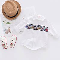 Детская рубашка с длинными рукавами, код (37999)