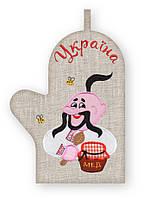 APV 29 Прихватка варежка, сувенир с вышивкой аппликацией, хлопок