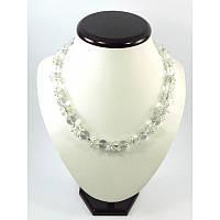"""Эксклюзивное ожерелье """"Горный хрусталь"""", Изысканное ожерелье из натурального камня,  Шикарные украшения из ка"""