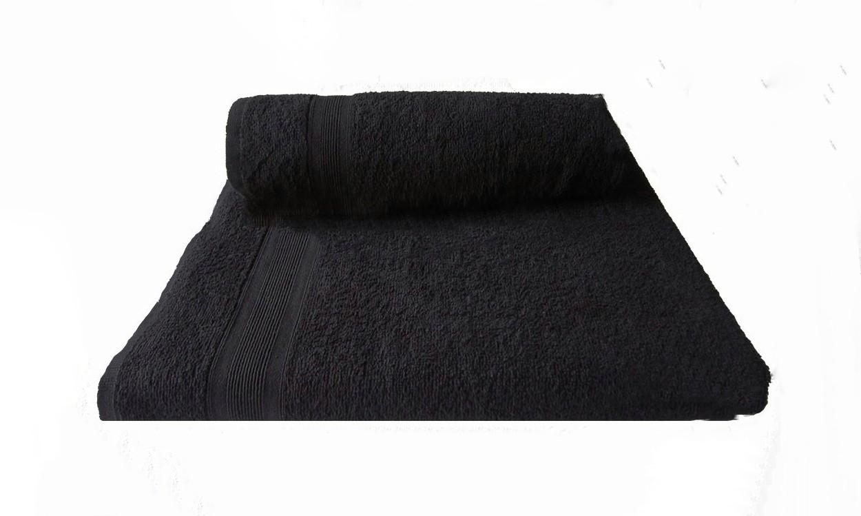 Полотенце махровое 50х90см Черный 420гр Пакистан