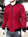 Мужская ветровка  бомбер куртка пилот  красный, фото 3