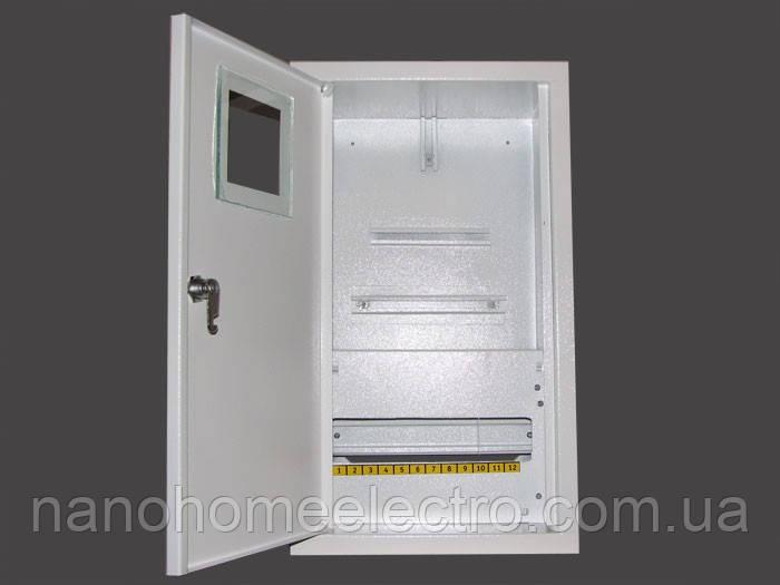 Внутрішній металевий распределителный шафа на 12 автоматів для трифазного лічильника