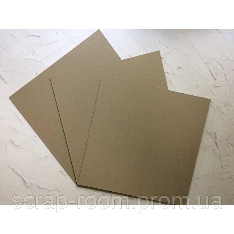 Переплетный картон 15*15 см, картон основа 15*15 см, переплетный картон для альбома 15*15 см, толщина 1,5 мм