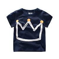 Стильная детская футболка с короной Акция! Последний размер:  140см