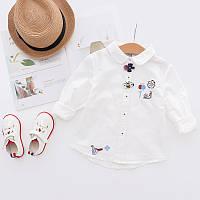 Модная рубашка для девочки 7346208-1, код (39435)