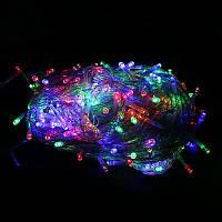 Светодиодная елочная гирлянда на 300 лампочек LED, лампочки разноцветные мульти, , гірлянди, Гирлянды