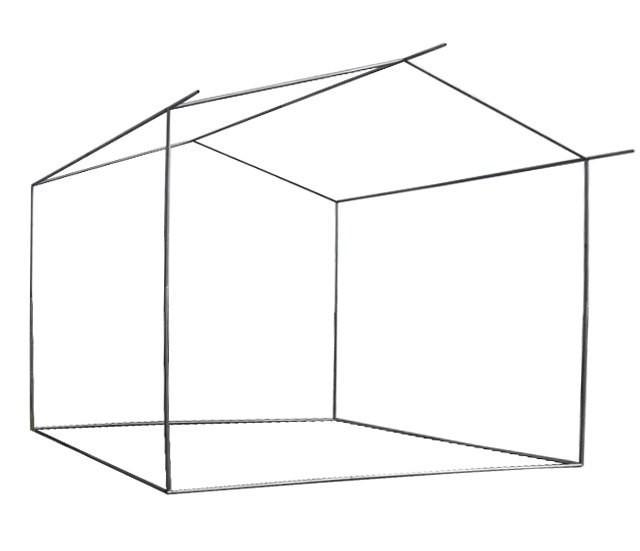 Каркас з труби 1,5*1,5 м для торговельної палатки