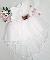 Платье нарядное Елизавета, размер 2, 3, 4 года, молочный, фото 1