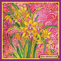 """Схема для вышивки бисером на натуральном холсте """"Розовый шарм"""" AC-056"""