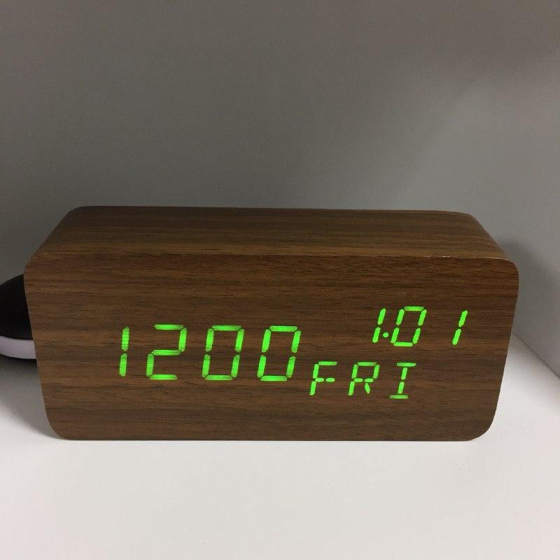 Электронные часы VST-862 Коричневые - Зеленая подсветка  | ОРИГИНАЛ