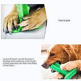 Зубная силиконовая щётка для собак Petolls зелёная размер S 7 X 10 X 3 см, фото 5
