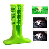 Зубная силиконовая щётка для собак Petolls зелёная размер S 7 X 10 X 3 см, фото 3