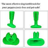 Зубная силиконовая щётка для собак Petolls зелёная размер S 7 X 10 X 3 см, фото 4
