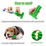 Зубная силиконовая щётка для собак Petolls зелёная размер S 7 X 10 X 3 см, фото 2