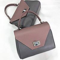 Жіноча шкіряна сумка комбінована CAPETOWN S