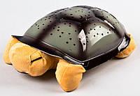 Ночник звездное небо, светильник проектор, Черепаха, цвет - коричневый. 20х29 см, Нічники, світильники, Ночники, светильники