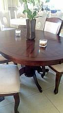 Стол обеденный круглый Мадрид Sof, цвет вишня, фото 3