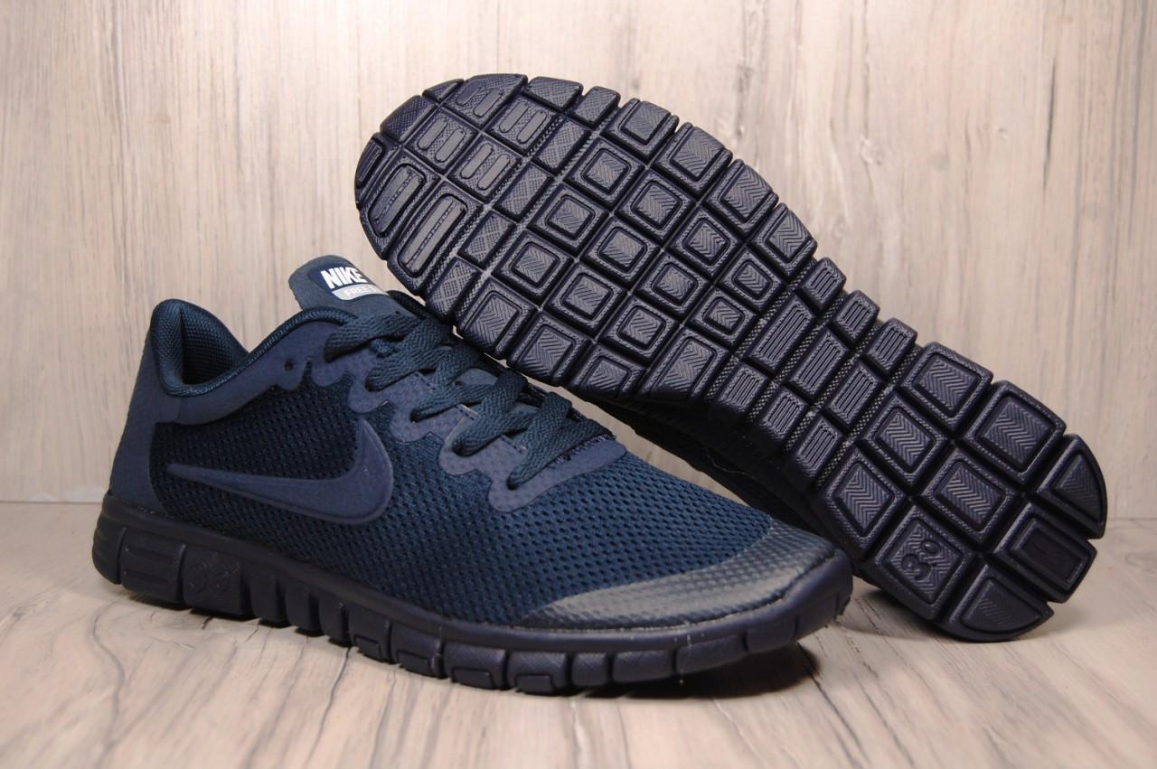 Чоловічі кросівки Nike Free Run 3.0 для бігу (весна/літо,текстиль,сині)