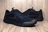 Чоловічі кросівки Nike Free Run 3.0 для бігу (весна/літо,текстиль,сині), фото 5