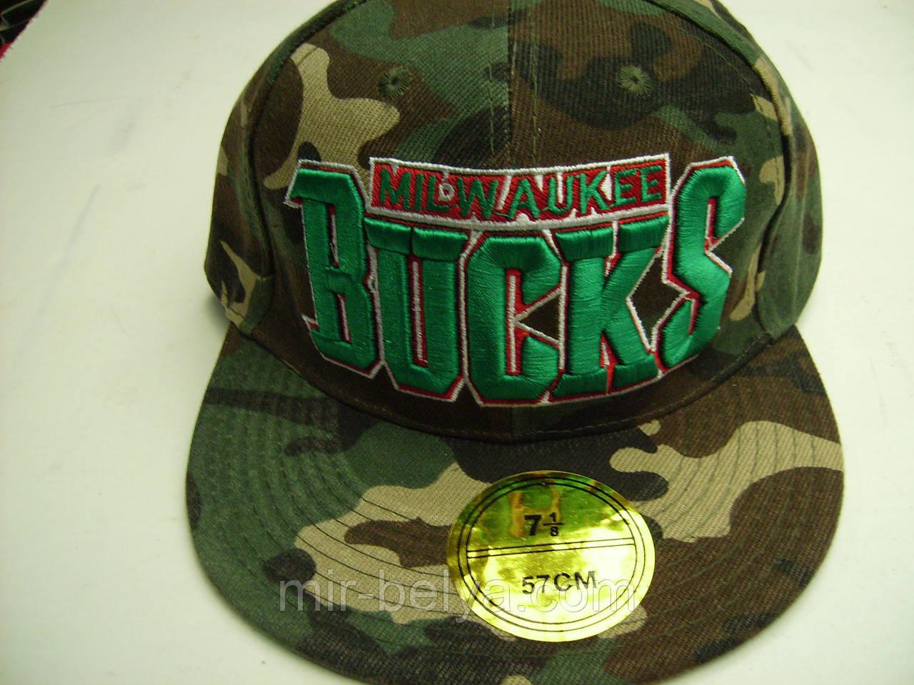 Кепка BuckS с прямым козырьком Snapback Cap in Black