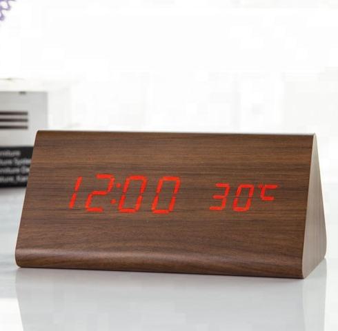 Электронные часы VST-861 Коричневые – Красная подсветка | ОРИГИНАЛ