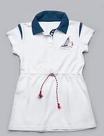 Летние детское платье-поло для девочки с канатиком 3-7 лет