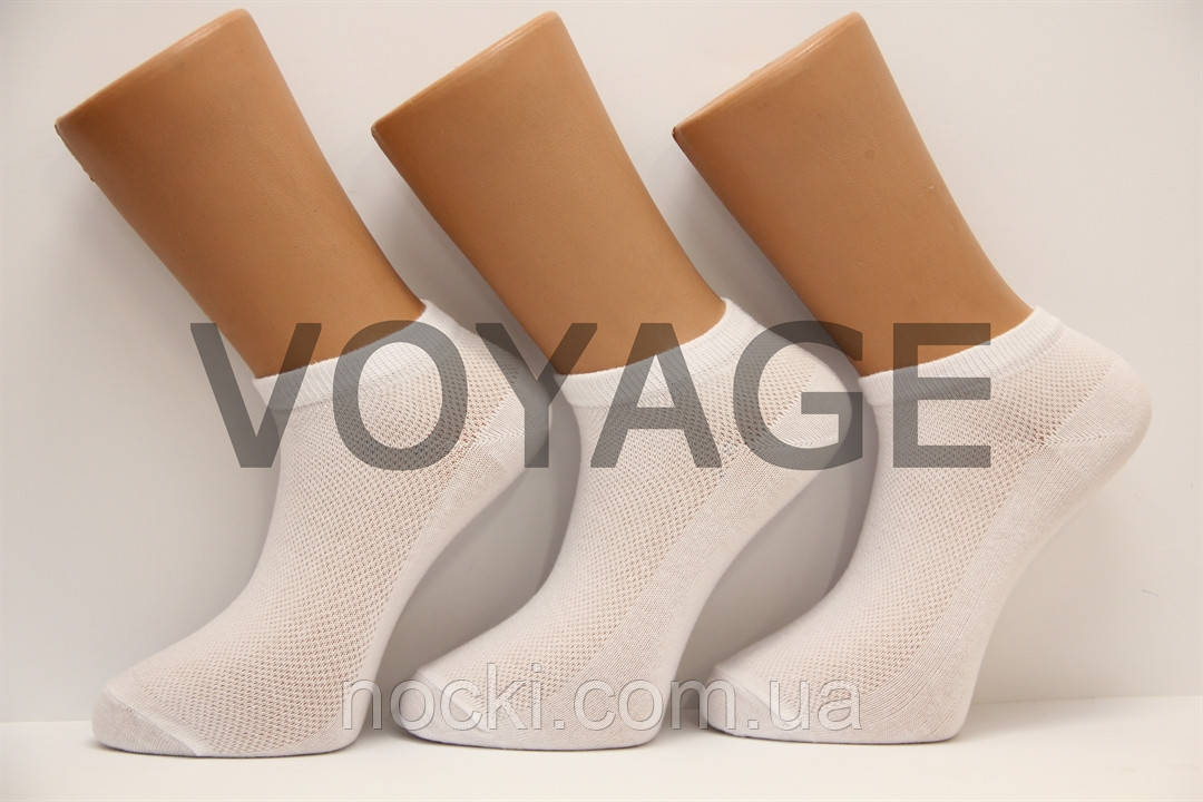 Мужские носки короткие с хлопка в сеточку КЛ