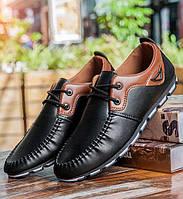 Отличные дизайнерские кроссовки Кожаная мужская обувь Хорошее качество Молодежные современные Код: КГ7751