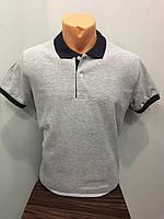 Мужская футболка стильная поло комбинированная L,XL,3XL
